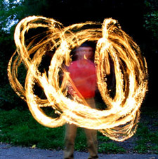 Juggling equipment, fire staffs, fire eating